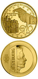 10 euro coin 10 years Central Bank of Luxembourg BCL  | Luxembourg 2008