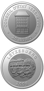 20 euro coin 150 years Council of State  | Luxembourg 2006