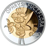 5 euro coin Ophrys bourdon | Luxembourg 2012