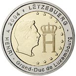 2 euro coin Effigy and Monogram of Grand Duke Henri | Luxembourg 2004