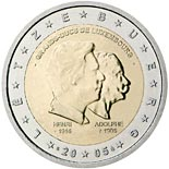 2 euro coin 50th birthday of Grand Duke Henri, 5th anniversary of his accession to the throne and 100th anniversary of the death of Grand Duke Adolphe | Luxembourg 2005