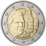 2 euro coin Grand-Duke Henri and the 'Château de Berg' | Luxembourg 2008
