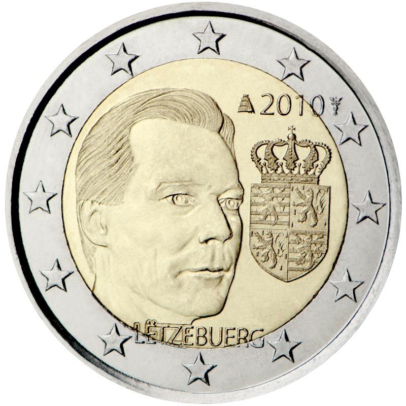 Image of 2 euro coin – Coat of arms of the Grand Duke  | Luxembourg 2010