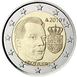 2 euro coin Coat of arms of the Grand Duke  | Luxembourg 2010