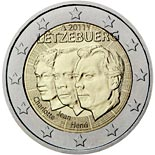 2 euro coin 50th anniversary of the appointment by the Grand-Duchess Charlotte of her son Jean as lieutenant-représentant | Luxembourg 2011