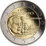 2 euro 100th Anniversary of the death of the William IV - 2012 - Series: Commemorative 2 euro coins - Luxembourg