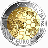 5 euro coin European honey bee | Luxembourg 2013