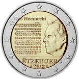 2 euro coin The National Anthem | Luxembourg 2013