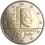 2 euro 175 Years of Independence of Luxembourg - 2014 - Series: Commemorative 2 euro coins - Luxembourg