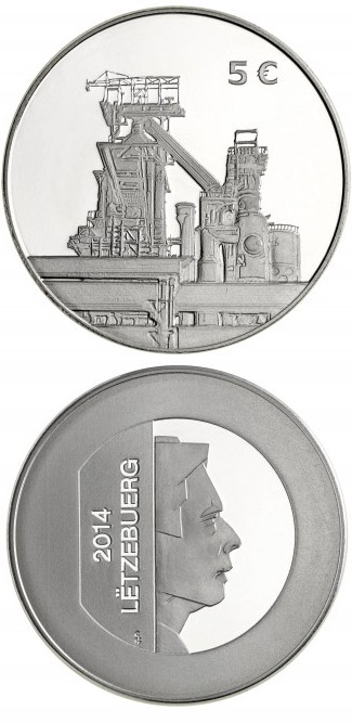 Image of Stainless Steel Coin – 5 euro coin Luxembourg 2014