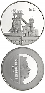 5 euro coin Stainless Steel Coin | Luxembourg 2014