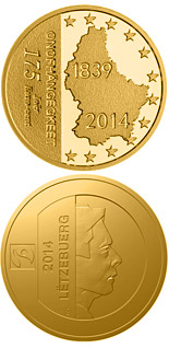 1.75 euro coin 175 Years Independance Of Luxembourg | Luxembourg 2014