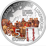 5 euro coin Congress of Vienna | Luxembourg 2015