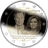 2 euro 15th anniversary of the accession to the throne of H.R.H. the Grand Duke  - 2015 - Series: Commemorative 2 euro coins - Luxembourg