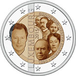 2 euro coin 125th anniversary of the House of Nassau-Weilburg | Luxembourg 2015