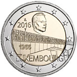 2 euro coin 50 Years of Grand Duchess Charlotte Bridge | Luxembourg 2016