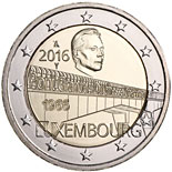 "2 euro 50th Anniversary Of The Inauguration Of The Bridge ""Grand Duchess Charlotte"" - 2016 - Series: Commemorative 2 euro coins - Luxembourg"