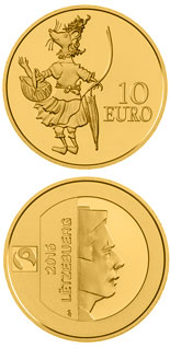 10 euro coin D'MAUS KETTI | Luxembourg 2016