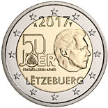 2 euro The 50th anniversary of the voluntariness of the Luxembourg army  - 2017 - Series: Commemorative 2 euro coins - Luxembourg