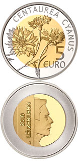 5 euro coin Cornflower | Luxembourg 2016