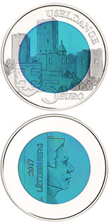 5 euro coin Castle of Useldange | Luxembourg 2017