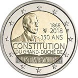 2 euro 150th Anniversary of the Luxembourg Constitution - 2018 - Series: Commemorative 2 euro coins - Luxembourg