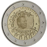 2 euro coin The 30th anniversary of the EU flag | Luxembourg 2015