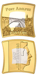 2.5 euro coin The Adolphe Bridge | Luxembourg 2017
