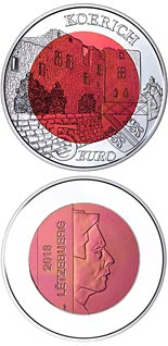 5 euro coin Koerich Castle | Luxembourg 2018