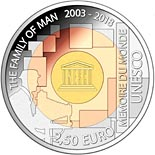 2.5 euro coin The Family Of Man 2003 - 2018 | Luxembourg 2018