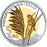 5 euro coin Reed (Phragmites) | Luxembourg 2018