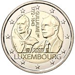 2 euro coin 125th Anniversary of the Death of Guillaume I | Luxembourg 2018