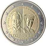2 euro coin 100th anniversary of the accession to the throne of Grand Duchess Charlotte | Luxembourg 2019