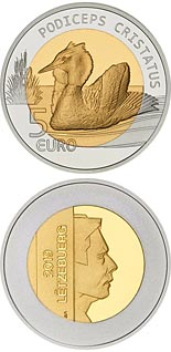 5 euro coin Great crested grebe | Luxembourg 2019