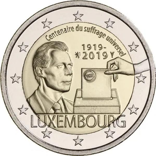 Image of 2 euro coin - Centenary of the Universal Voting Right | Luxembourg 2019