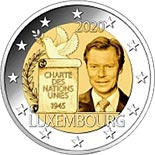 2 euro coin 75th Anniversary of the Signing of the Charter of the United Nations | Luxembourg 2020