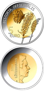 5 euro coin Bistorta officinalis | Luxembourg 2020