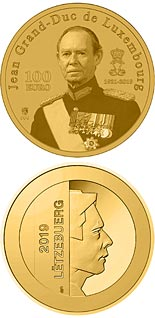 100 euro coin In Memory to the Grand Duke Jean