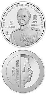 5 euro coin In Memory to the Grand Duke Jean