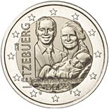 2 euro coin Birth of Prince Charles | Luxembourg 2020