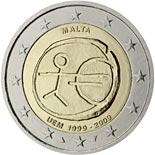 2 euro coin 10th Anniversary of the Introduction of the Euro | Malta 2009