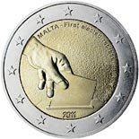 2 euro coin Constitutional history – first election of representatives in 1849  | Malta 2011