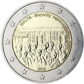 Image of a coin 2 euro | Malta | 1887 Majority Representation | 2012