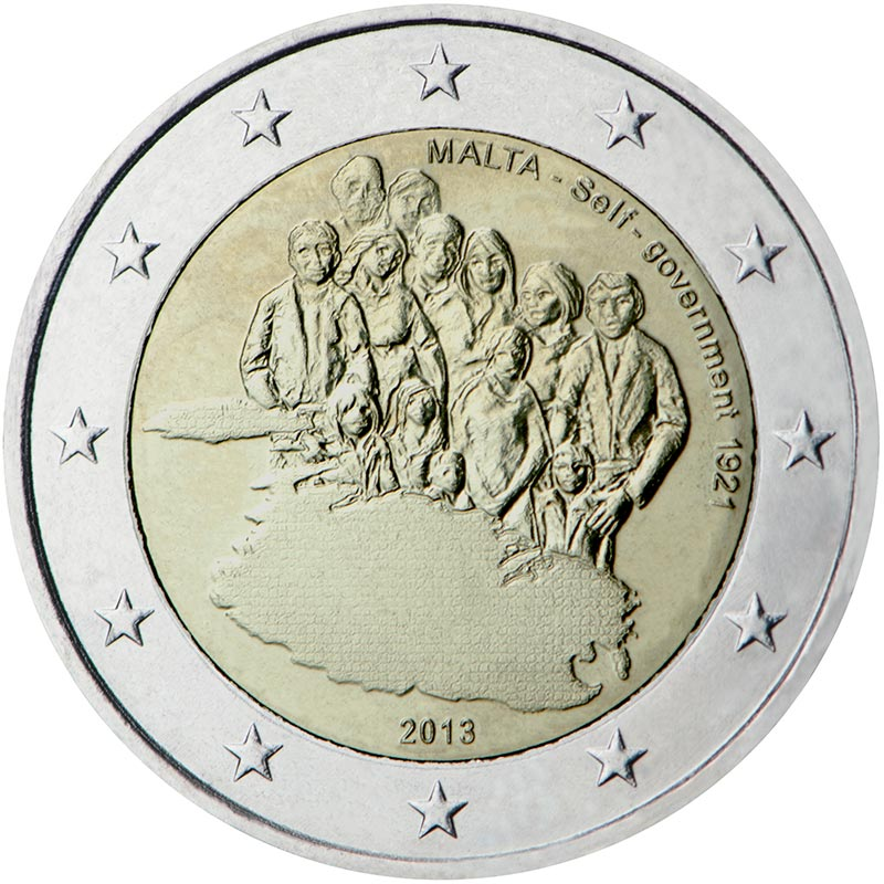Image of 2 euro coin - 1921 Self Government | Malta 2013