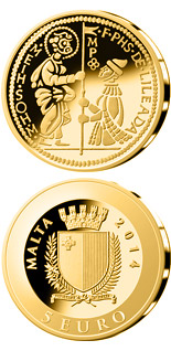 5 euro coin The Zecchino | Malta 2014