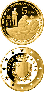 5 euro coin 100th anniversary of the First World War | Malta 2014