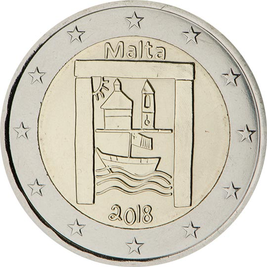 Image of 2 euro coin – Cultural Heritage | Malta 2018