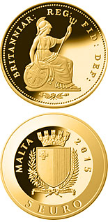 5 euro coin One-third farthing | Malta 2015