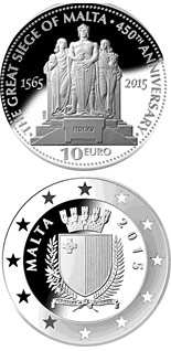 10 euro 450th Anniversary of the Great Siege of Malta  - 2015 - Series: Silver 10 euro coins - Malta
