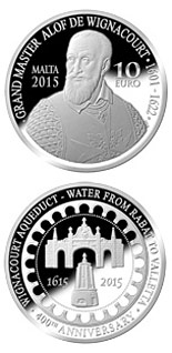 10 euro coin 400th Anniversary of the Wignacourt Aqueduct  | Malta 2015